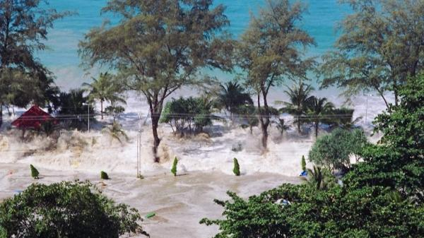 Patong beach in Phuket, Thailand, was destroyed by the tsunami on Dec. 25, 2004. More than 230,000 people died.