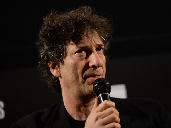 Writer Neil Gaiman attends a screening for <em>Coraline</em> on May 5 in Hollywood, Calif.