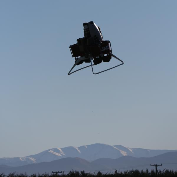 The Martin Jetpack has reached 5,000 feet. Here an unmanned version is flown via remote control.