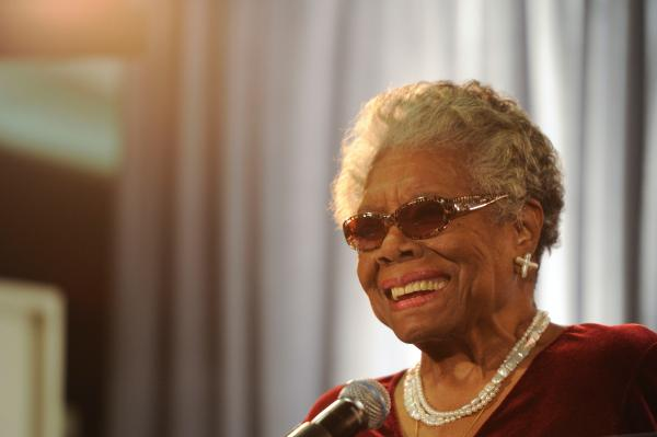 Angelou attends The Maya Angelou Center for Women's Health and Wellness Forsyth Medical Center in her hometown of Winston-Salem, N.C., on May 12, 2012.