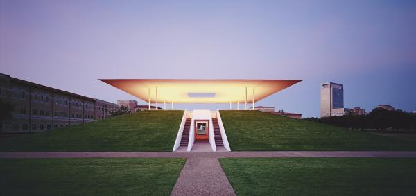 """I want to look at light, rather than have light illuminate another thing,"" says artist James Turrell. ""I'm interested in the thingness of light itself, so that light is the revelation."" Above, Turrell's 2012 work, <em>Twilight Epiphany</em>, <a href=""http://www.mfah.org/exhibitions/james-turrell-retrospective/"">in Houston</a>."
