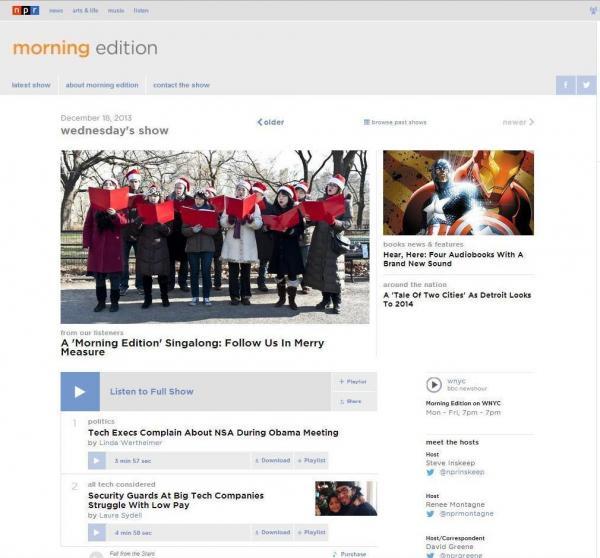 The new <em>Morning Edition</em> digital home.