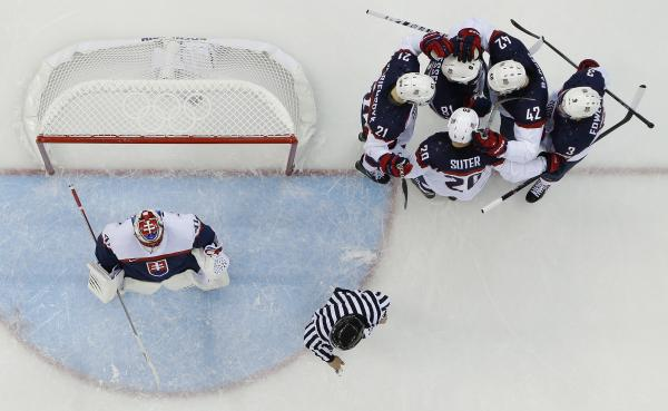 Team USA crushed Slovakia on Thursday, 7-1.
