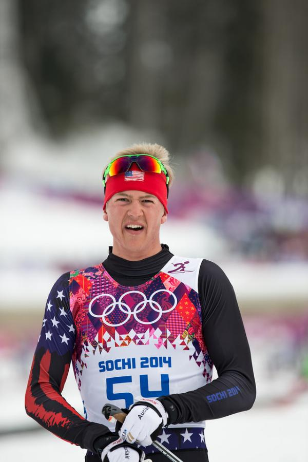 Cross country skier Erik Bjornsen of Mazama, Wash., competed in five events in Sochi.