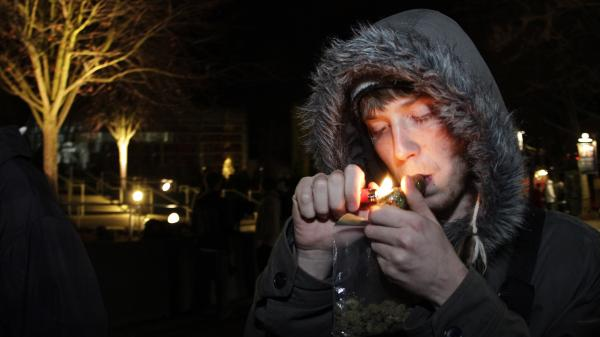 C. Nash smokes after possession of marijuana became legal in Washington state on Dec. 6, 2012.