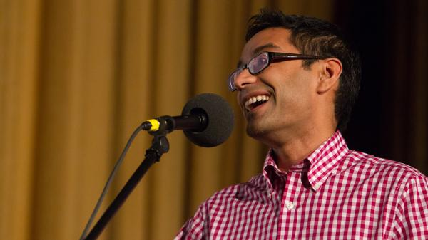 Farhad Manjoo at the Castro Theatre in San Francisco.