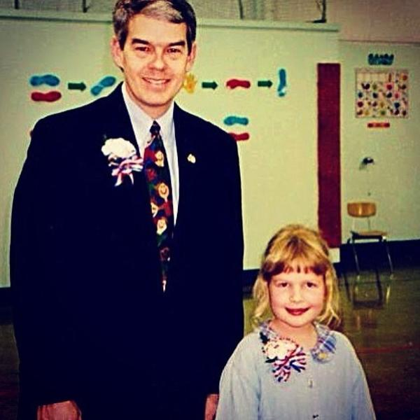 Chelsea Kiene writes:<em> Here is the first trace of photographic evidence: my first inauguration, circa 1996 (I was sworn into Weston Elementary School's student council by now Ohio State Senator Randy Gardner). </em>