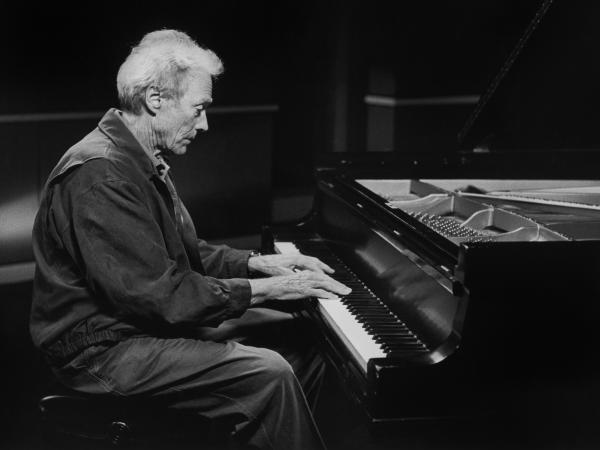 Clint Eastwood at the piano in Monterey, Calif.