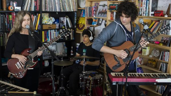 Juana Molina performs at a Tiny Desk Concert in April 2014.