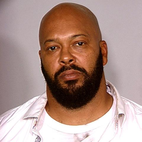 "This photo released by the Las Vegas Metropolitan Police Department shows rap music mogul Marion ""Suge"" Knight after he was arrested in Aug. 2008, in Las Vegas."