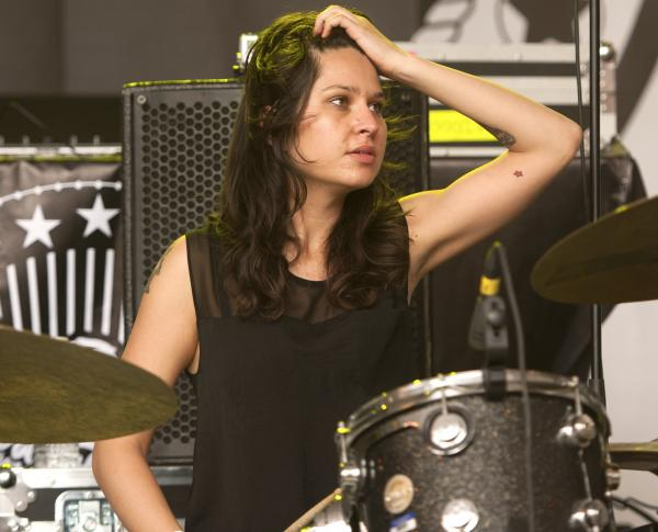Drummer Stella Mozgawa, performing with Warpaint at South By Southwest earlier this year.