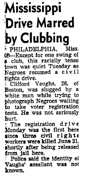Before working on <em>Easy Rider</em>, Clifford Vaughs was active in the civil rights movement in the 1960s. An <em>Associated Press</em> story in the <em>Los Angeles Times</em> even noted his work in Mississippi in 1964.