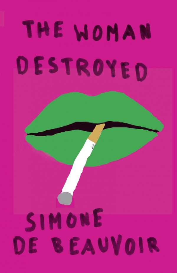 """Mendelsund says his cover for Simone de Beauvoir's<em> The Woman Destroyed</em> """"is as close as I've ever come to a <a href=""""http://www.merriam-webster.com/dictionary/jolie%20laide"""">jolie laide</a> cover — and I love it for that reason."""""""