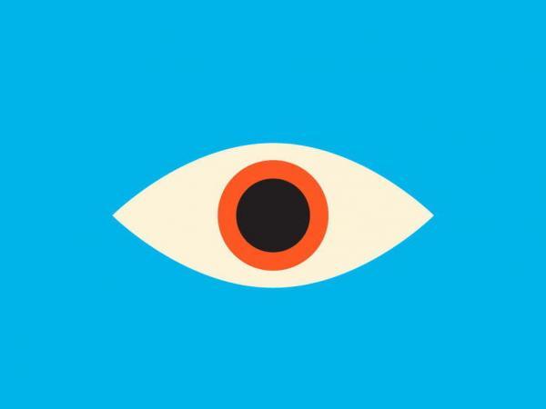 Another eye appears on Mendelsund's cover of Kafka's<em> The Castle. </em>