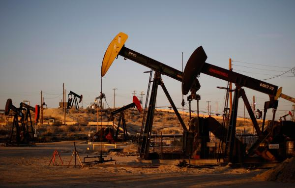 Oil wells near McKittrick, Calif., one of the places where hydraulic fracturing, or fracking, is on the rise. The U.S. became the world's largest oil producer this year, surpassing Saudi Arabia and pumping some 11 million barrels a day.