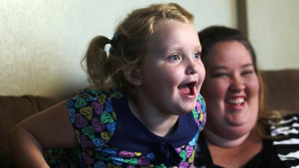 "June ""Mama June"" Shannon jokes with daughter Alana ""Honey Boo Boo"" Thompson, star of TLC's unscripted series <em>Here Comes Honey Boo Boo</em>."