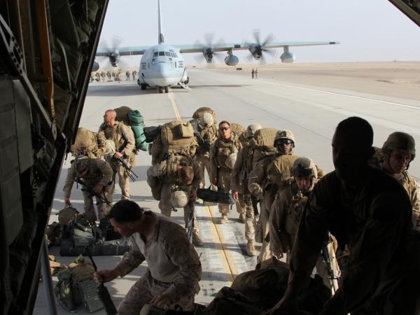 All the Marines are departing from southern Afghanistan, but around 20,000 U.S. military personnel remain in the country.
