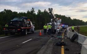 A woman was killed after driving her car the wrong way on southbound I-75 Sept. 22 and striking a tractor trailer in Pasco County.