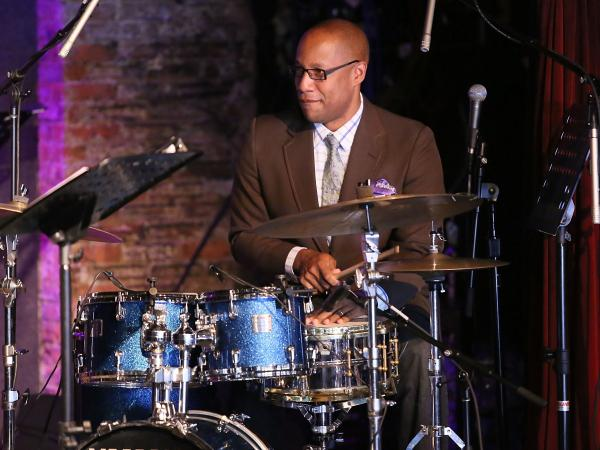 Drummer and composer Otis Brown III performing live earlier this year in New York City.