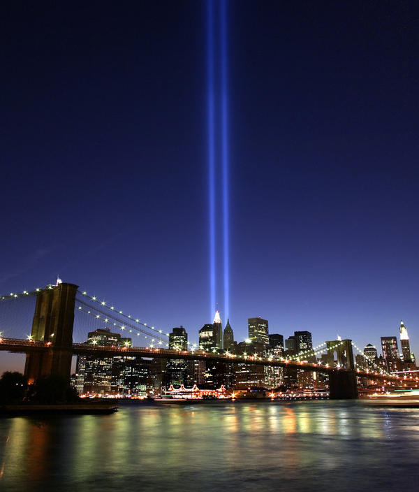 "The ""Tribute in Light"" interim memorial to the World Trade  Center twin towers was first lit six months to the day after the Sept. 11 terrorist attacks. In <em>The Submission</em>, Amy Waldman imagines the controversy surrounding a fictional memorial to the attacks."