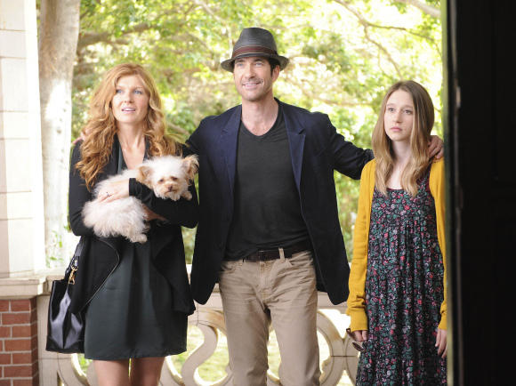 <p>Connie Britton, Dylan McDermott, and Taissa Farmiga play a family moving into a house, where the previous tenants were found dead.</p>