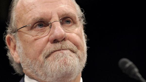 Former MF Global Holdings Ltd. Chairman and Chief Executive Officer Jon Corzine testifies on Capitol Hill in Washington.