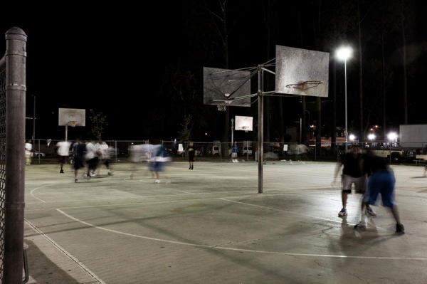 Pickup basketball, for one.