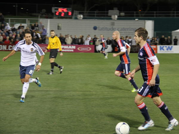 The Galaxy play against the New England Revolution in Tuscon. Several MLS teams are playing in Arizona in a two-week tournament called the Desert Diamond Cup.