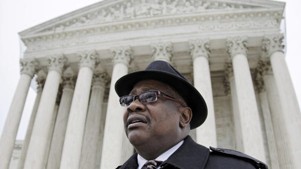 Daniel Coleman outside the U.S. Supreme Court after oral arguments in his case in January. On Tuesday, the justices ruled against Coleman, holding that that states cannot be sued for money damages for failing to give an employee time off to recover from an illness under the Family and Medical Leave Act.