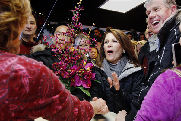 "<b>MICHELE BACHMANN</b><br /><i>Announcement: Jan. 4, 2012</i><br /><br/>The day after a sixth-place finish in the Iowa caucuses, the Minnesota congresswoman left the race. ""Last night, the people in Iowa spoke with a very clear voice, and so I have decided to step aside,"" Bachmann announced. Her candidacy reached a high point in August, when she won the Iowa Republican Party's straw poll. But that victory was blunted, and much of her Tea Party support diverted, that same weekend when Texas Gov. Rick Perry joined the race."
