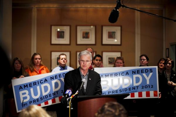 <b>BUDDY ROEMER</b><br /><i>Announcement: Feb. 23, 2012</i><br /><br/>After struggling to be taken seriously by the Republican establishment or get access to the all-important televised debates, the former Louisiana governor and member of Congress — and former Democrat — left the GOP race to seek the nomination of both the Americans Elect movement and the Reform Party.
