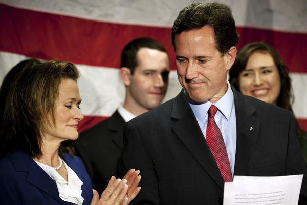 "<b>RICK SANTORUM</b><br /><i>Announcement: April 10, 2012</i><br /><br/>With the delegate math stacked against him and his 3-year-old daughter in the hospital over Easter weekend, the former Pennsylvania senator huddled with his family at the kitchen table where his candidacy began and decided to end his White House bid. The campaign has been ""miracle after miracle,"" he said in a speech in Gettysburg, Pa. ""This race was as improbable as any race you'll ever see for president."""