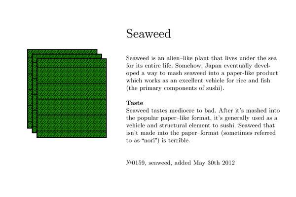 №0159, seaweed