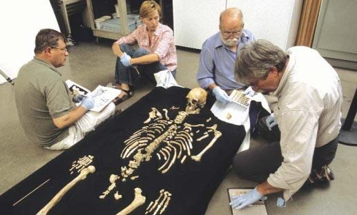 "Doug Owsley (far left) will reveal key findings about ""Kennewick Man"" from a nine-year study.  Photo by Chip Clark/Smithsonian Institution"