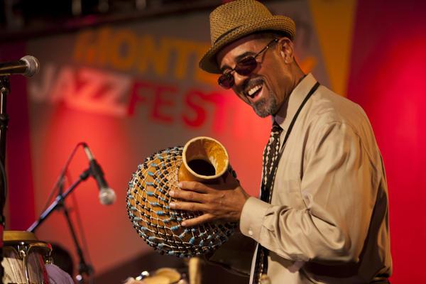 John Santos at the 2011 Monterey Jazz Festival.