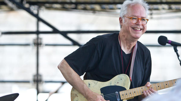 Bill Frisell plays John Lennon songs on the Fort Stage at the Newport Jazz Festival.