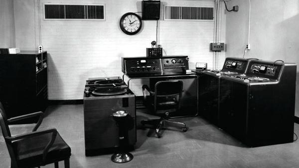 WBT radio's bomb shelter in Charlotte, N.C., part of a government-funded emergency communications network, as it looked in 1963.