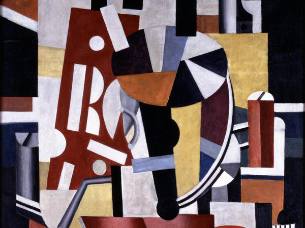 Fernand Léger's <em>Composition (Le typographe) (Composition [The Typographer]).</em>