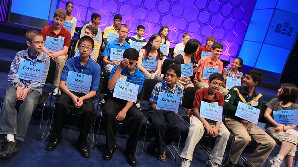 Spellers wait to participate in the semi-finals of the 2011 Scripps National Spelling Bee.
