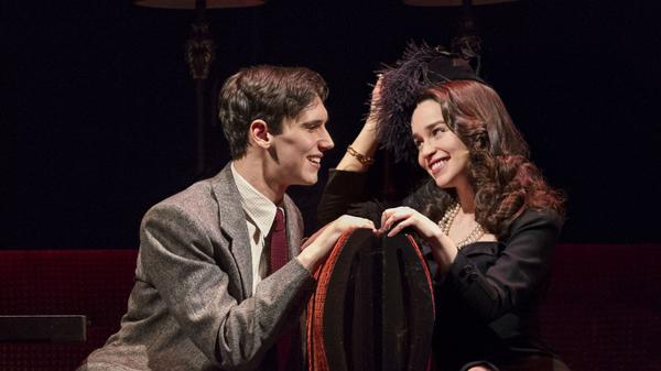 Fred (Cory Michael Smith) and Holly (Emilia Clarke) in a scene from the recent Broadway adaptation of Truman Capote's <em>Breakfast at Tiffany's</em>. The show, which received a slew of negative reviews, closed after only 38 performances.