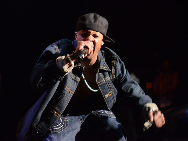 "Chris ""Mac Daddy"" Kelly during a performance on Feb. 23 in Atlanta."