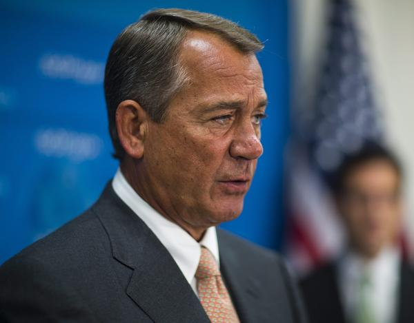 House Speaker John Boehner on Wednesday in the Capitol.