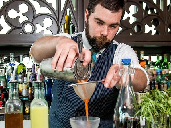 "Bartender Chad Phillips developed the ""Beet Me in St. Louis"" cocktail for his fiance on her first Mother's Day."