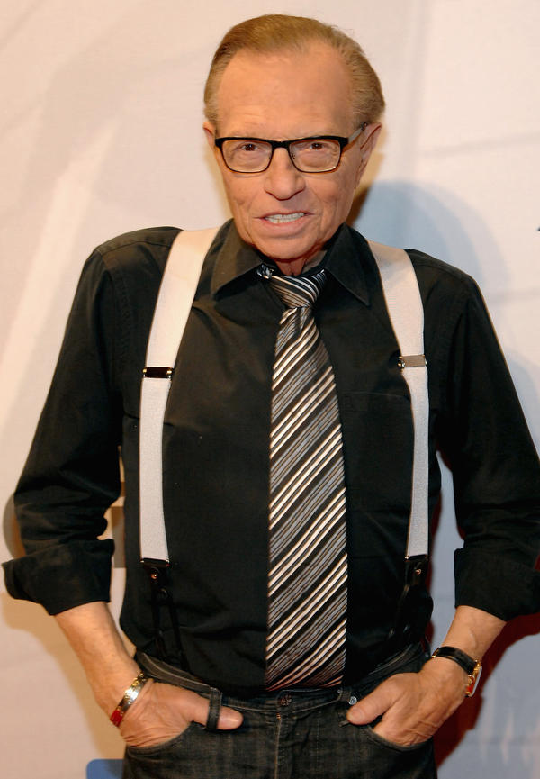 Larry King in April at a charity gala in Las Vegas.