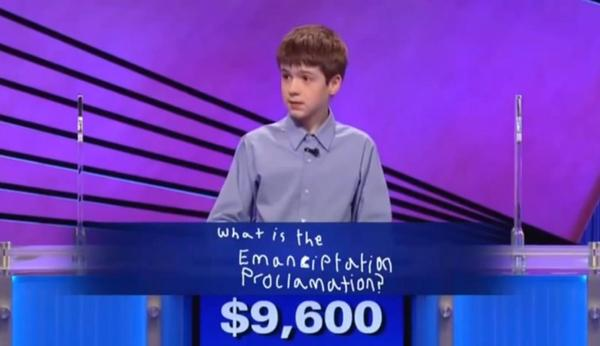 Thomas Hurley is pictured in a screen shot from his appearance on Jeopardy. (YouTube)