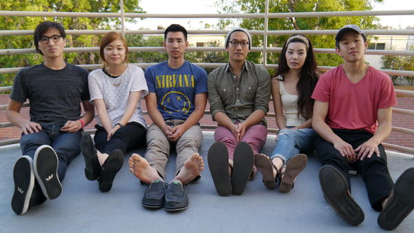John Chong (from left), Sally Kang, Joe Chun, Alex Hwang, Jennifer Rim and Daniel Chae of Run River North.