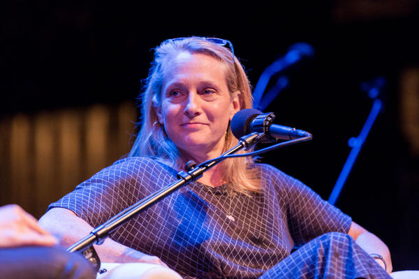 Piper Kerman at the Fitzgerald Theater in St. Paul, Minnesota.