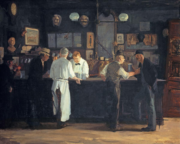 <em>McSorley's Bar</em> by American realist John Sloan<em> </em> is a 1912 slice-of-New-York-life scene of relaxation and libation.