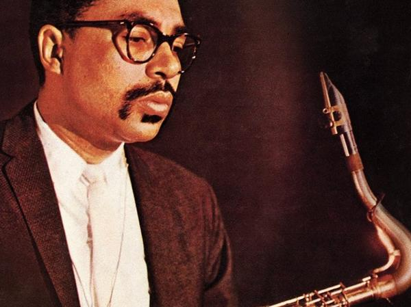 Booker Ervin on the cover of <em>The Book Cooks</em>, his debut album.