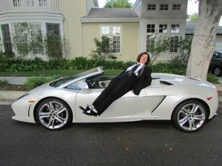 Paula Poundstone and her dream car.